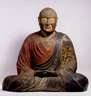 Jianzhen - This Nara period wooden statue vividly represent both Ganjin's gentle personality and his indomitable willpower.