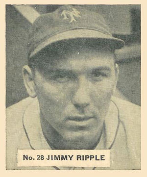 Jimmy Ripple - Baseball card of Ripple