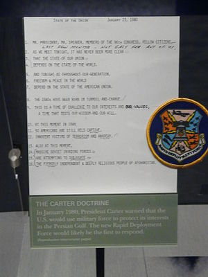 Carter Doctrine - A document related to the Carter Doctrine