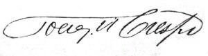 Joaquín Crespo - Image: Joaquín Crespo signature
