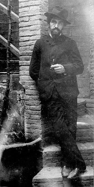 Joaquín Torres-García - Joaquín Torres García, 1903, at the Sagrada Familia, Barcelona