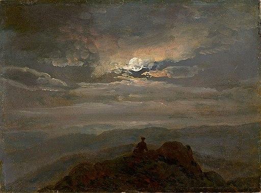 Johan Christian Clausen Dahl - Landskap i måneskinnet (1823)