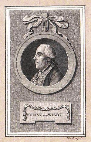 Johann Jakob von Wunsch - Engraving of Wunsch