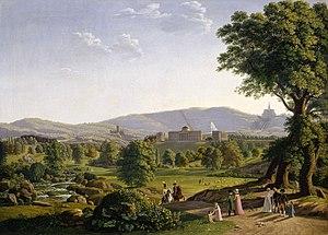 Johann Erdmann Hummel - Image: Johann Erdmann Hummel Blick auf Wilhelmshöhe