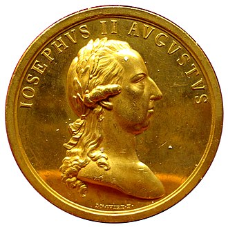 Brabant Revolution - Gold medallion depicting Emperor Joseph II whose reforms sparked the revolt
