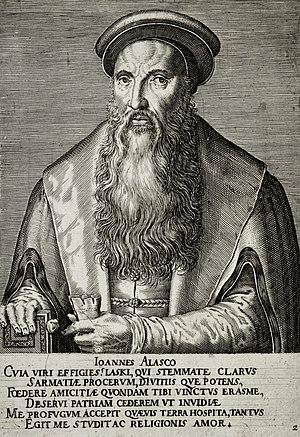 Jan Łaski - Jan Łaski (Johannes a Lasco), portrait from the 16th century