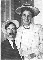 Turner con su esposa, ca. 1920.