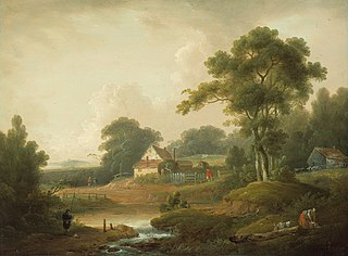 Landscape with Fisherman and Washerwoman