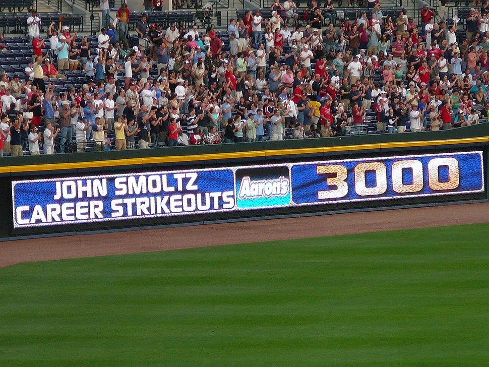 John Smoltz 3000 strikeouts