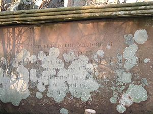 Caledonian Canal - Inscription on John Telford's grave.