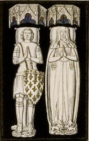 John of Artois, Count of Eu - John of Artois with his wife Isabelle de Melun