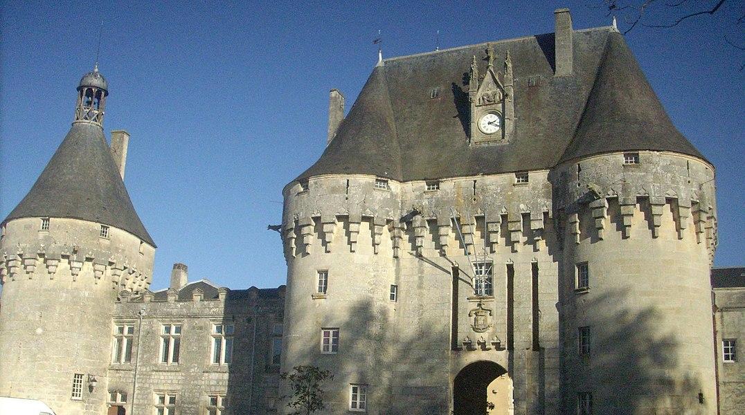 Castle gate in Jonzac