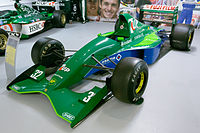 Jordan 191 front-left Donington Grand Prix Collection.jpg