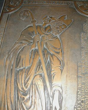 Jordan (Bishop of Poland) - Epitaph of Jordan in Archcathedral Basilica of St. Peter and St. Paul in Poznań