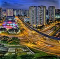 Junction of Bukit Panjang Road and Bukit Panjang Ring Road near Bukit Panjang Plaza, Singapore - 20130223.jpg