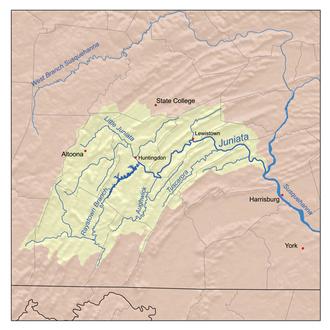 Juniata River - Image: Juniatamap