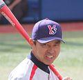 Junji Ogawa, manager of the Tokyo Yakult Swallows, at Yokohama Stadium.jpg