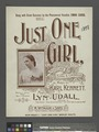 Just one girl, cover.tiff