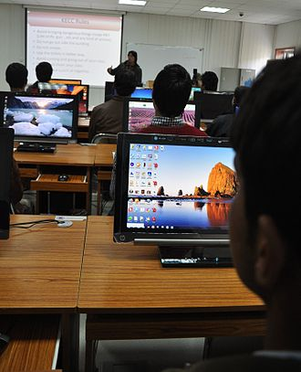 Parwan Province - Computer class at the Korean Education and Cultural Center in Parwan.
