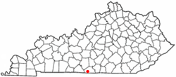 Location of Gamaliel, Kentucky