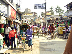 Narrow streets of Kandirpar,  heart of Comilla city