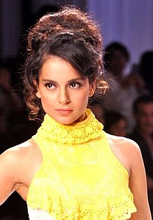 Kangana Ranaut walking the ramp at Signature International Fashion Weekend, 2013.jpg