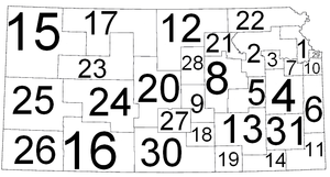 Kansas District Courts - Districts map