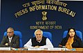 Kapil Sibal addressing the press conference regarding One Year Agenda of Department of IT, Ministry of C&IT, in New Delhi. The Secretary, Electronics & IT, Shri J. Satyanarayana and the Principal Director General (M&C).jpg