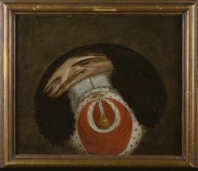Karl II av England (1630-85) Anamorfos med lös cylinderformad spegel