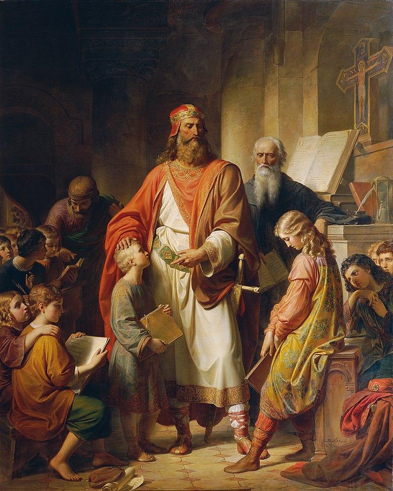 Karl von Blaas - Karl der Große tadelt die nachlässigen Schüler - 2715 - Österreichische Galerie Belvedere.jpg