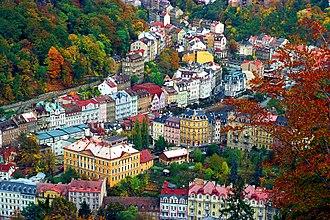 Karlovy Vary - A bird's-eye view of Karlovy Vary