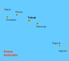 Mapo de Aŭstralaj Insuloj
