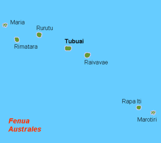 Austral Islands - Map of the Austral Islands