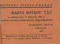 Karta wstepu na defilade z okazji Odzyskania Niepodleglosci w Poznaniu.jpg