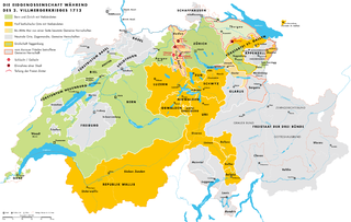 Swiss religious war in 1712