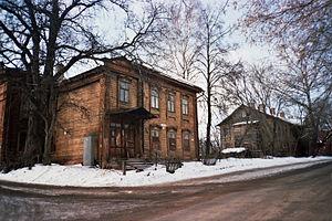 Typical wooden apartment at Ayvazovskiy street