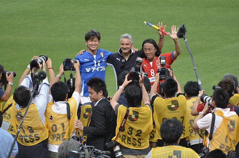 File:Kazu Miura, Roberto Baggio and Tsuyoshi Kitazawa.jpg