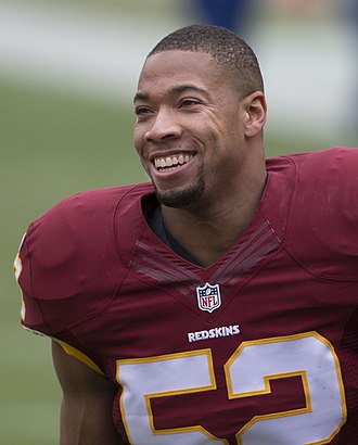 Keenan Robinson - Robinson with the Washington Redskins in 2014