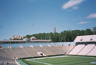 Kenan Memorial Stadium - The West End Zone addition in 1998 created a horseshoe.