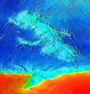 Submerged continent - Kerguelen Plateau Topography