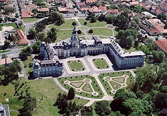 Festetics Palace - Aerial view of the Festetics Palace