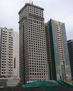 Khalid Al Attar Tower 2 Under Construction on 2 November 2007.jpg