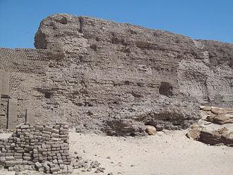 Shunet El Zebib - South-eastern wall of the Shunet El Zebib.
