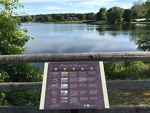 Kickamuit River - An informational display tells the history of the Kickamuit River.