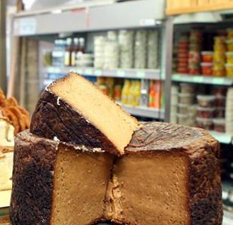 Kosher foods - Jerusalem kugel made with egg noodle, caramelized sugar and black pepper