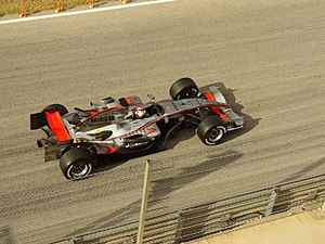 R�ikk�nen testing for McLaren at Valencia in early 2006.