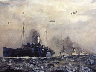 SS King Orry (1913) - King Orry leads the German Fleet to Scapa Flow, 1918.