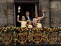 King Willem-Alexander, Queen Maxima and their daughters 2013.jpg