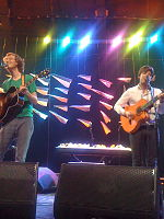 Kings of Convenience en directe a Santiago de Xile, 2011.