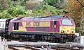 Kingswear - DB Cargo 67030 on the level crossing.JPG